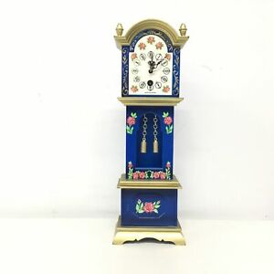 Vintage Blessing Miniature Grandfather Clock, Made in West Germany #454