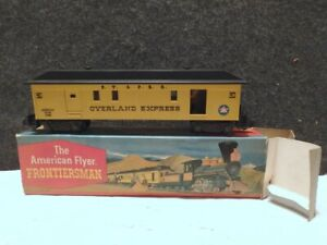 VINTAGE American Flyer TRAINS Frontiersman # 24730 OVERLAND EXPRESS CAR IN BOX