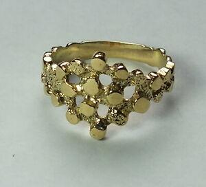 Nugget Damenring   .585 Gold      Gr. 54           #  G 3991