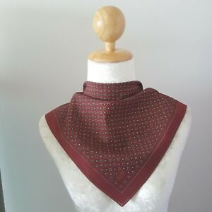 "YSLUnisex Red Polka Dot Square Thin Cotton Handkerchief 18"""