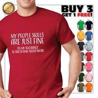 PEOPLE SKILLS Funny Mens T-Shirt sarcastic gift sarcasm humor joke tee