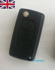 Replacement 3 button flip key fob case for Peugeot 407 607 remote fob new case