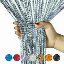2M Glitter String Door Curtain Beads Room Dividers Beaded Fringe Window Panel US