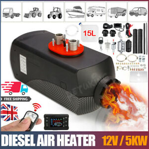 12V Air Diesel Night Heater 5KW Remote LCD Monitor For Car Truck Motor Boat Home