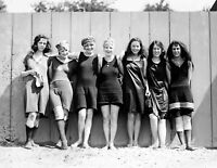 "1920 Bathing Beauty Lineup Vintage Historic Retro Old Photo 8.5"" x 11"" Reprint"