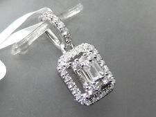 NEU ANHÄNGER mit 0,33 ct Baguette Diamanten / Brillanten 750 18 KARAT WEIßGOLD