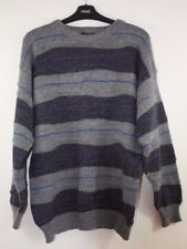 Men's Size S, Next, Navy, Purple and Blue Striped Long Sleeve Jumper, 20% Wool