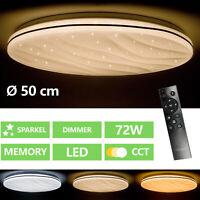 LED DECKENLEUCHTE DECKENLAMPE PANEL BAD-LAMPE WOHNZIMMER DIMMBAR KÜCHE FLUR 72W