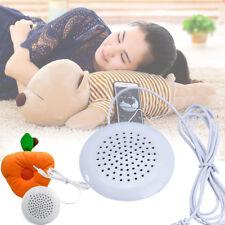 Portable White 3.5mm Pillow Speaker Earpiece Headphones Earphone For Sleeping