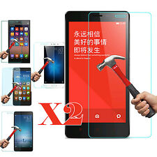 2X Tempered Glass Protective Screen Protector For Xiaomi Mi4 5 Redmi 2 3 4 4A 4X