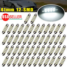 50x 42MM LED 12SMD Courtesy Interior Light Bulb Festoon Dome Lamp 6000K White US