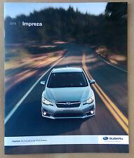 2016 Subaru Impreza Original Sales Brochure NEW