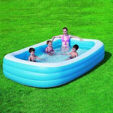 """BESTWAY EXTRA LARGE PADDLING POOL RECTANGLE DELUXE 106"""" X 69"""" X 20"""" SWIMMING NEW"""