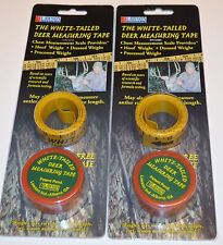 Whitetail Deer Measuring Tape Gives Approximate Hoof, Dressed & Processed Weight