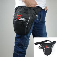 Black Motorcycle Drop Leg Bag Reflective Waterproof Nylon Fabric Big Capacity