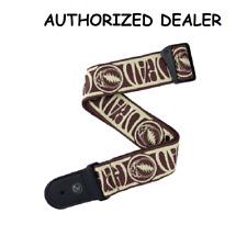 D'Addario 50GD01 Grateful Dead Woven Guitar Strap Steal Your Face Tan/brown