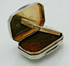 Georgian 1822 Antique Solid Sterling Silver Vinaigrette with Sponge (1694/9/VNN)