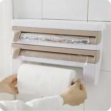 Kitchen Cling Film Bottle Storage Rack Paper Towel Roll Holder Dispenser FA