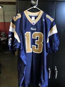 Reebok NFL Los Angeles Rams Kurt Warner #13 Jersey Size 56 NOS
