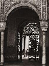 1922 Vintage SPAIN Seville CASA de PILATOS Court Gate Architecture Art HIELSCHER