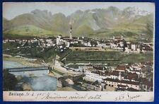 BELLUNO Panorama viaggiata 1905 f/p #22069