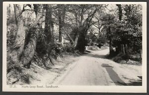 Postcard Sandhurst nr Bracknell Berkshire view of Harts Leap Road RP Frith ST8