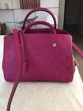 Sac Louis Vuitton Montaigne BB empreinte Grape (fuchsia/violet)
