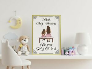 Mother's day A3 print, poster, disney, quote, wall art, gift, picture