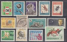 Albania Sc 651/724 MLH. 1963-1964 issues, 13 diff singles