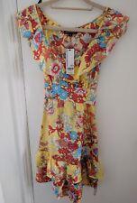 BNWT Yellow Floral Warehouse Silk Tea Dress - Size 6 - RRP £60 - Make Offer