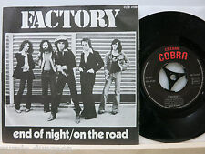 "Factory  – End Of Night  7"" Single   Cobra COB 47.001  France"