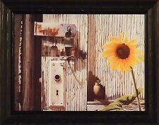 SECRET PASSAGE by Rock Newcomb 15x19 FRAMED PRINT PICTURE Bird Sunflower Door