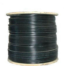 Rg6 3Ghz Solid Bare Copper Coaxial Coax Cable Hdtv Satellite Tv 1000Ft - Black