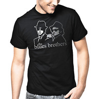The Blues Brothers John Belushi Dan Aykroyd Kult Retro Silber Metallic T-Shirt