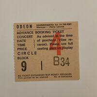 Joe Jackson - Hammersmith Odeon August 15 1982 Concert Ticket Stub