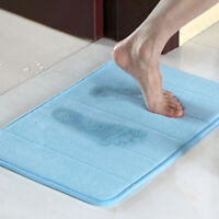 Bathroom Non Slip Mat Carpet Water Absorption Rug Shaggy Memory Foam Bath Mat UK