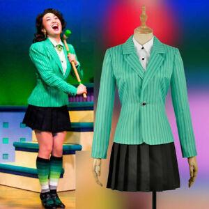 Women Uniform Heathers The Musical Rock Costume Heather Duke School Dress Set