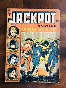 JACKPOT COMICS #1, MLJ PUBLISHING, SCARCE COMIC, 1941