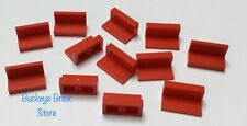 Lego 1x2x1 RED PANEL - 12 Panels Parts