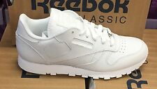 Reebok Athletic Classic Leather White Junior Kids Youth Big Boys Shoes