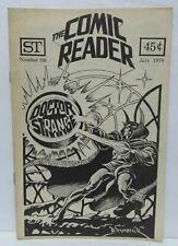 THE COMIC READER #108 1974 DOCTOR STRANGE  COVER RARE FANZINE MARVEL FANZINE
