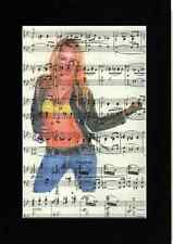 UNIQUE BRITNEY SPEARS Art Print Upcycled Music Page Vintage Recycled & RARE