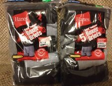 NEW Hanes Boys' Tagless Boxer Briefs Ringer Styling 10 Pair Size Large