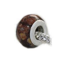 Jasper Stone European Bead Compatible for Most European Snake Chain Bracelet
