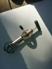 Vintage Ekco Hand Crank Mixer Egg Beater Stainless Steel Made In USA Antique