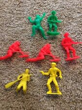 Lot Of Seven Vintage Cowboys And Indians Green Red Yellow