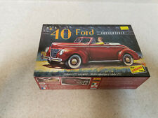 Lindberg Line '40 Ford Convertible 1/32 Scale Model Kit, Brand New!