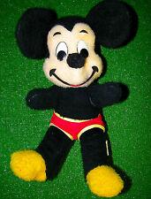 "Vintage Disney World Mickey Mouse Plush Doll  14"" California Stuffed - 50s?"
