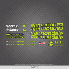 01451 Cannondale Bicicletta Adesivi-Decalcomanie-Transfers-verde con chiave nero