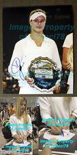 *WOW* Eugenie Bouchard Genie signed 11x14 Wimbeldon Photo Exact Proof JSA COA